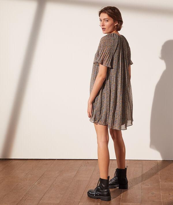 Vestido plisado estampado