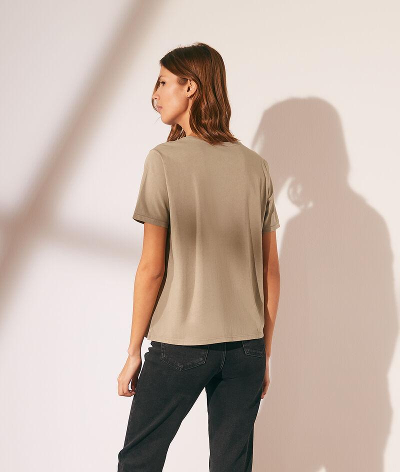 Camiseta lisa escote redondo