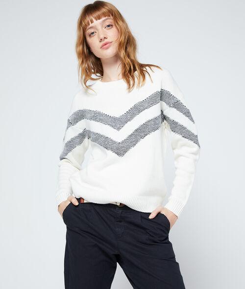 Suéter cenefa de punto fino