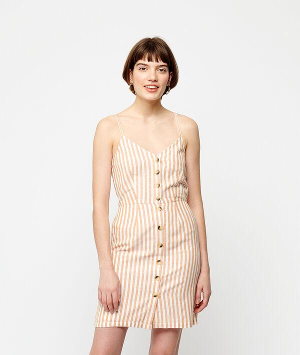 Vestido estampado rayas con botones