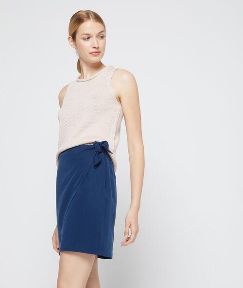 Falda cruzada de Tencel