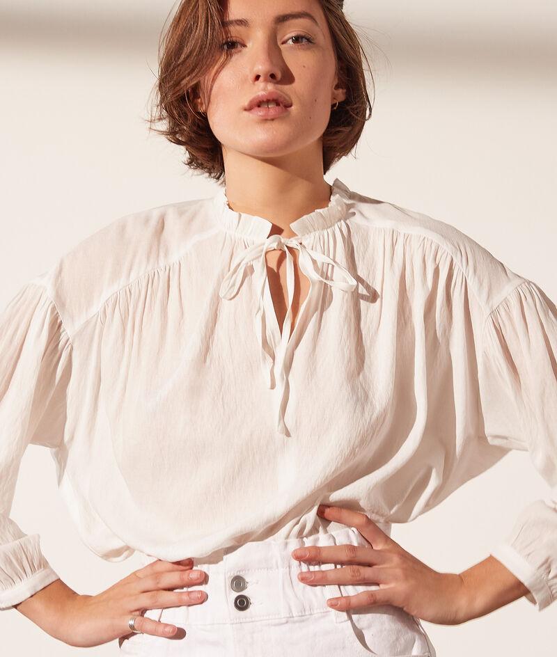 Blusa cuello anudado