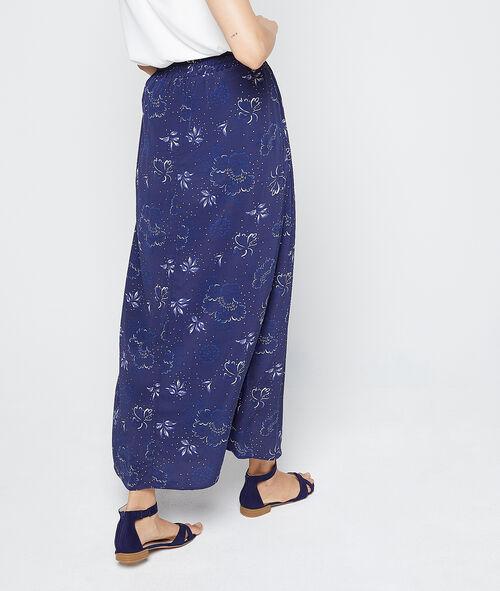 Falda larga estampado floral