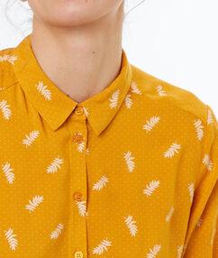 Camisa estampada c.ocre.