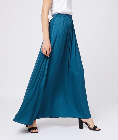Falda larga satinada