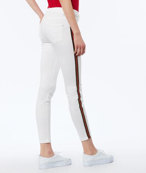 Pantalón estrecho franja lateral