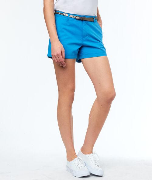 Pantalón corto algodón con cinturón