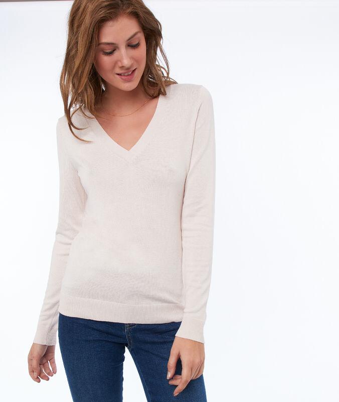 Jersey liso escote en v c.nude.