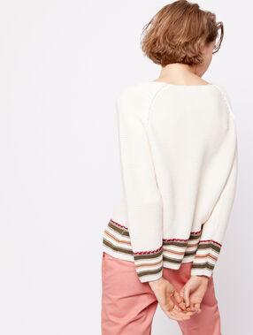 Jersey de punto grueso 100% algodón c.beige.