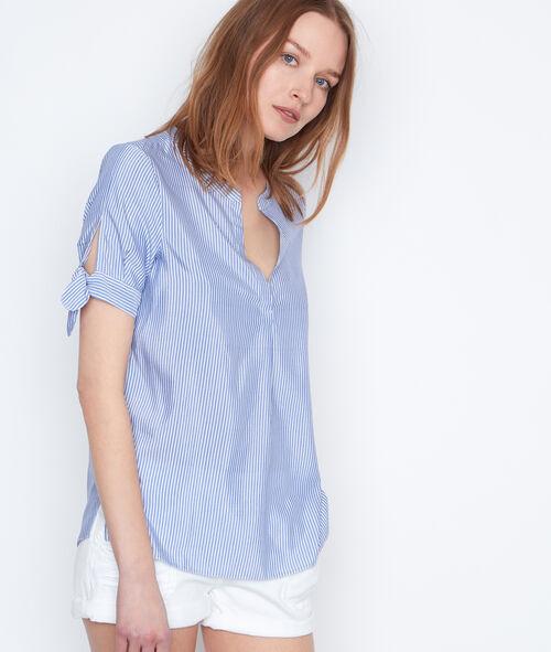 Camisa manga corta estampado a rayas