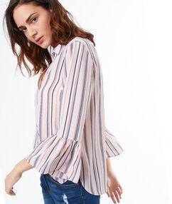 Camisa estampado de rayas crudo.