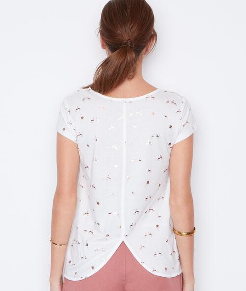 Camiseta manga corta estampado flamenco