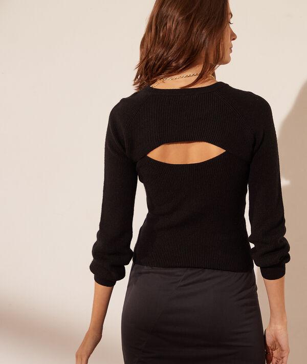 Jersey con aberturas escote y espalda