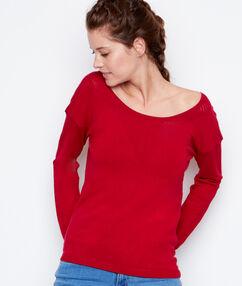 Jersey fino cuello redondo rojo.