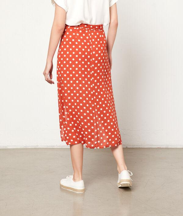 Falda midi estampado de lunares