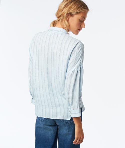 Camisa manga 3/4 estampado de rayas