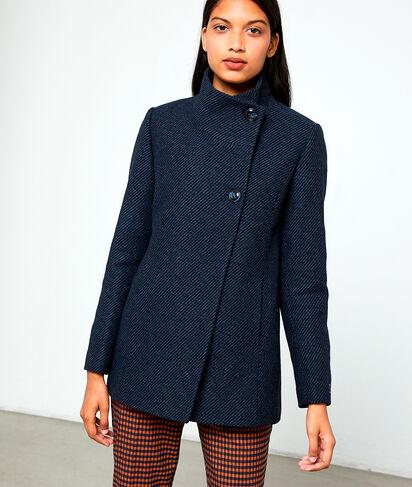 Abrigo de lana mixta