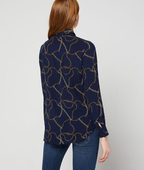 Camisa con estampado de cadenas