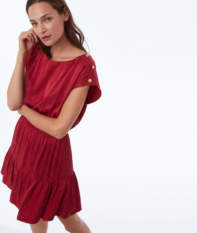 Vestido estampado áncoras frambuesa.