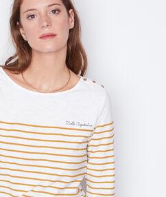 Camiseta estampado marinero azafrán.