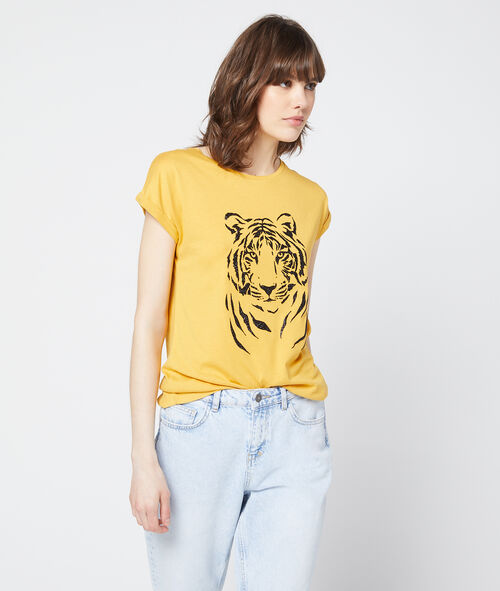 Camiseta serigrafiada de tigre