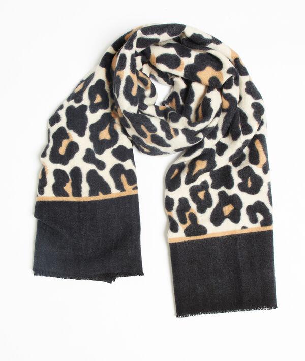 Bufanda plaid estampado leopardo