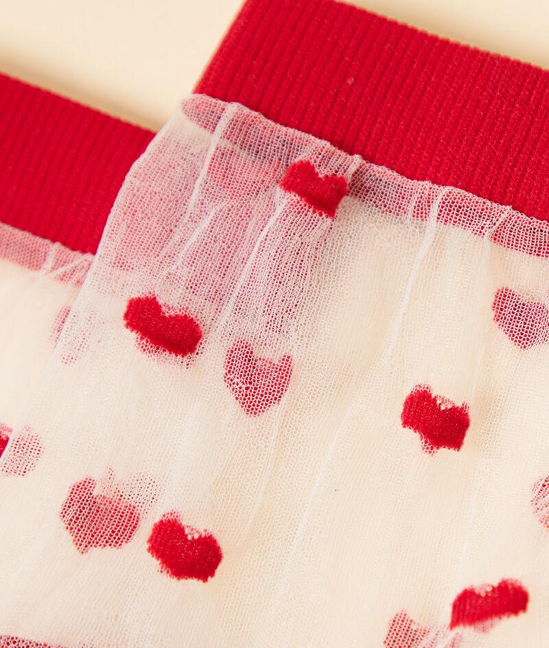 Calcetines de tul con corazones