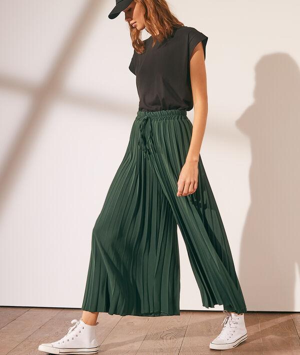 Pantalón largo plisado