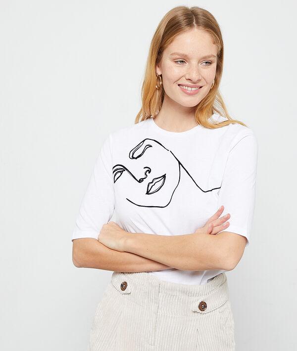 Camiseta serigrafiada de fibras recicladas