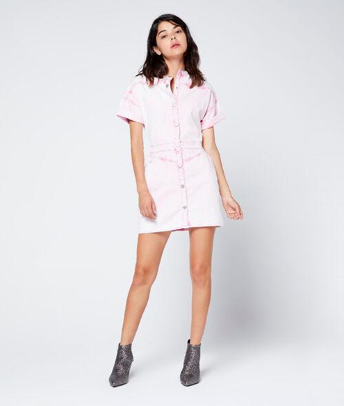 Vestido efecto desteñido de algodón