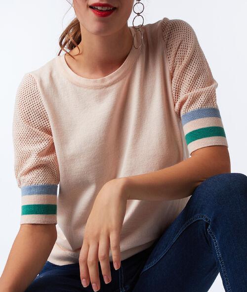 Jersey algodón y tejido rejilla