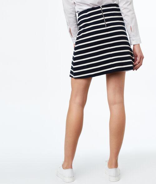 Falda estampado a rayas