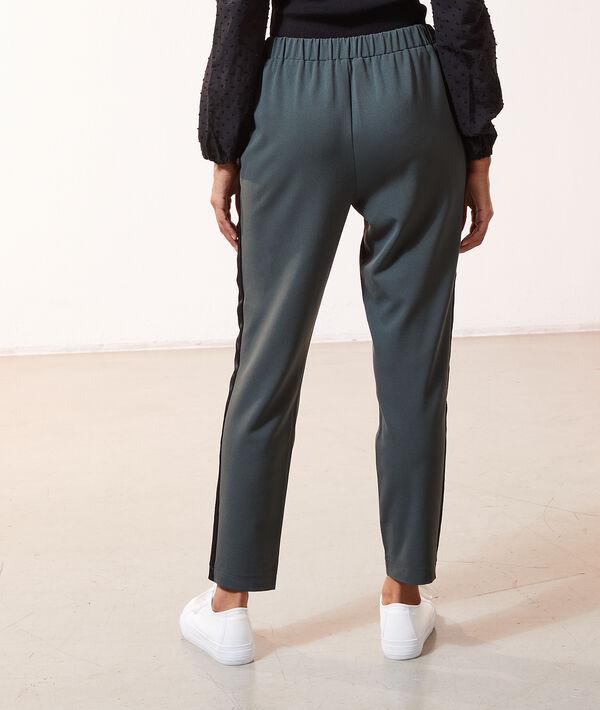 Pantalon côtés satinés