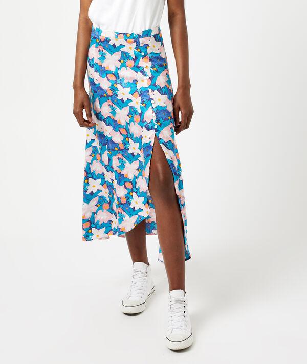 Falda midi estampado floral
