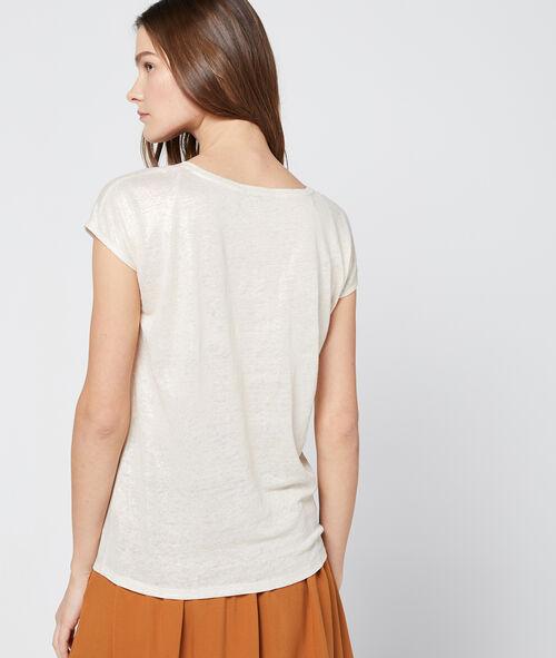 Camiseta metalizada en lino
