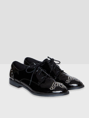 Derbies vernis noir.