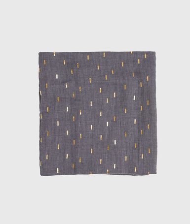 Pañuelo estampado c.gris.