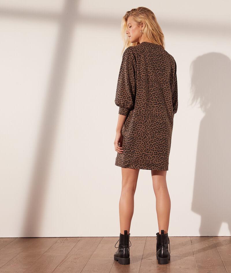 Vestido sudadera leopardo