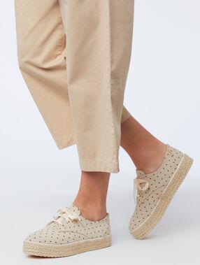 Zapatillas estampado de lunares c.beige.