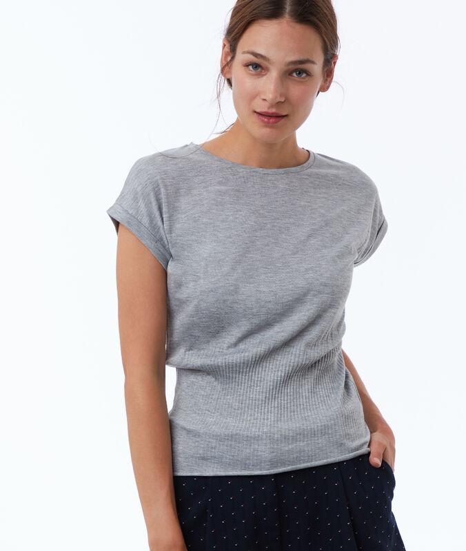 Camiseta entallada c.gris.
