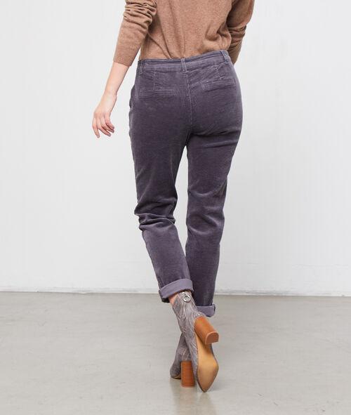 Pantalón de pana acanalado