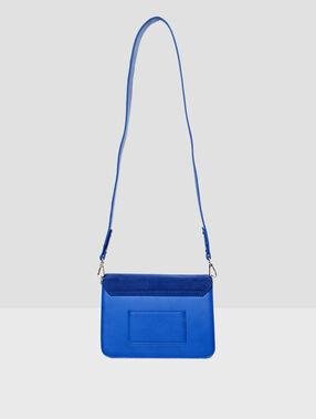 Bolso bandolera dos texturas azul.