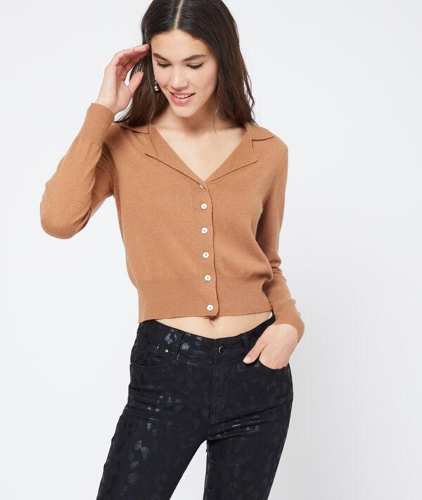 Suéter cuello camisa