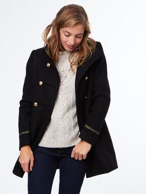 Manteau officier noir.