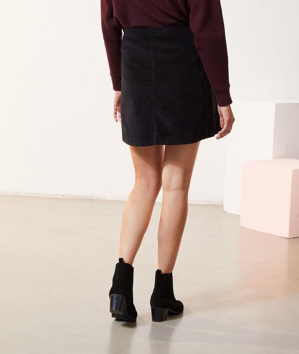 Falda de terciopelo con botones