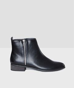 Bottines zippées black.