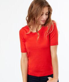 Jersey fino manga corta naranja.
