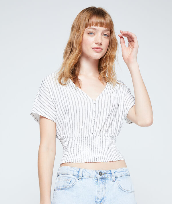 Camiseta corta ceñida