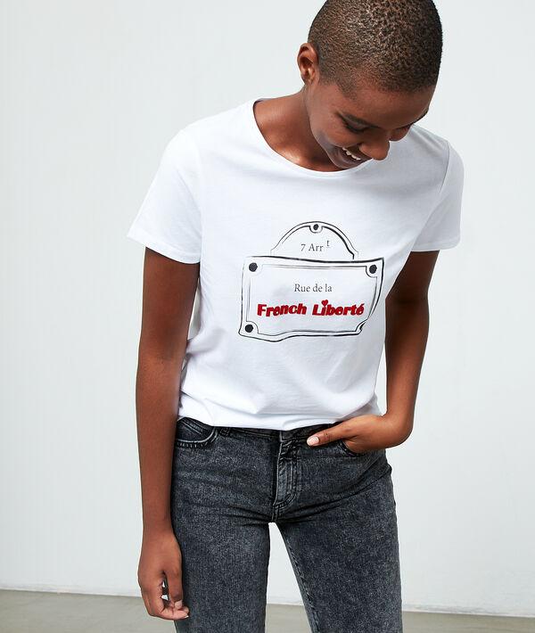 Camiseta con el mensaje 'Rue de la french liberté'
