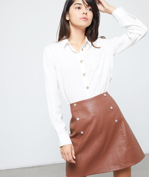 Camisa botones ambarinos de Tencel